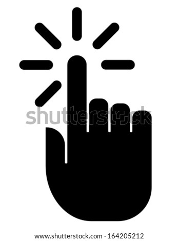 Click icon - stock vector