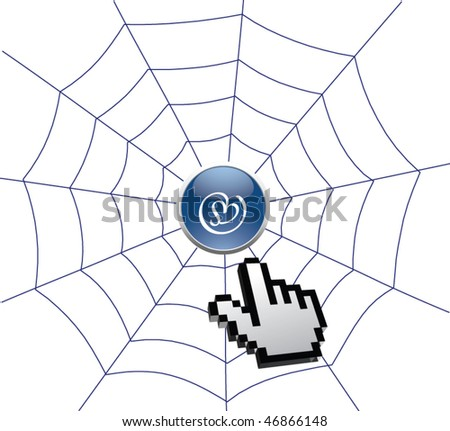 Clicking round the web - stock vector