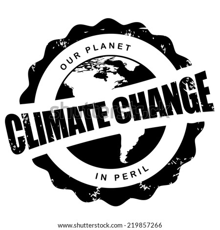 Climate change stamp EPS 10 vector  - stock vector