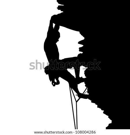 Climbing - stock vector