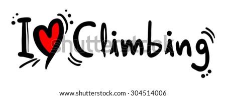 Climbing love - stock vector
