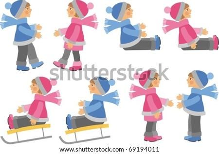 Clip-art children - stock vector