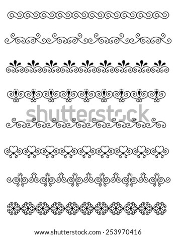 Clip Art Line Art Collection Different Stock Illustration ...