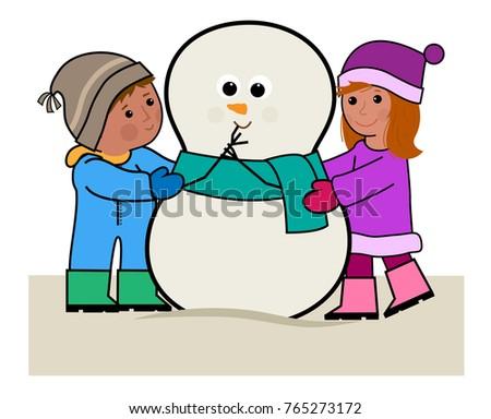 clipart boy girl hugging snowman eps10 stock vector 765273172 rh shutterstock com friends hugging clipart sisters hugging clipart