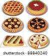 Clip art set  of homemade pies - stock vector