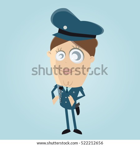 clipart of a female police officer