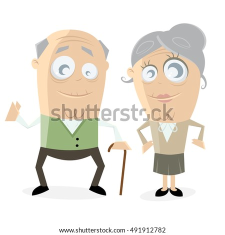 clipart of a happy senior couple