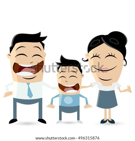 clipart of parents with son