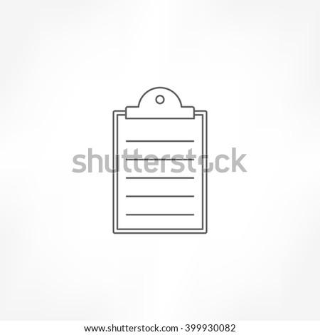 clipboard icon, agenda icon , checklist icon - stock vector