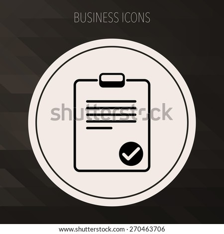Clipboard icon,Vector EPS10. - stock vector