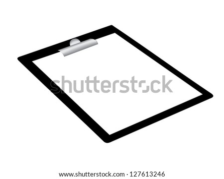 Clipboard on a white background - stock vector