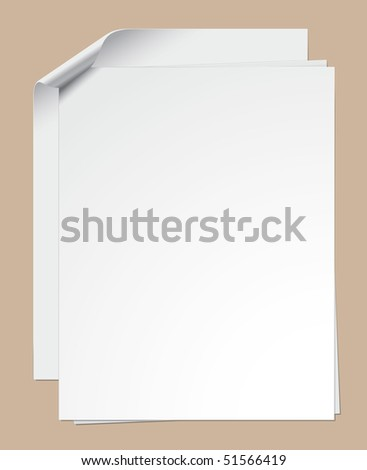 Clipped paper sheets - stock vector