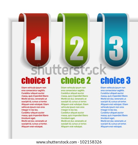 Clips with numbers of choice - stock vector