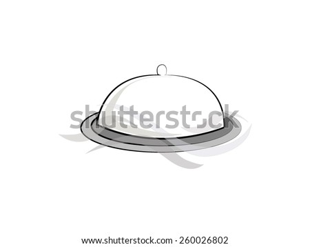 cloche tray dish icon