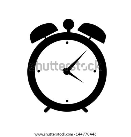 clock alarm icon vector illustration - stock vector