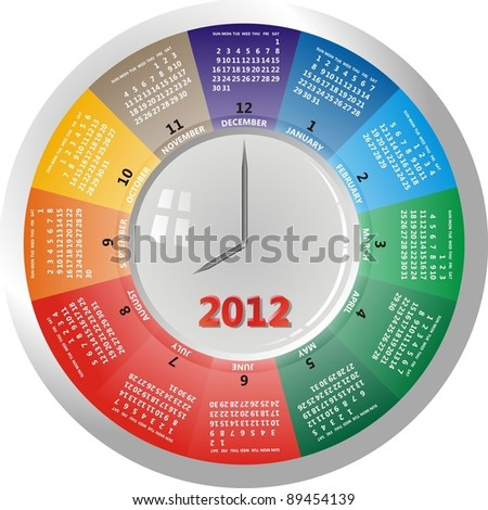 clock and calendar - stock vector