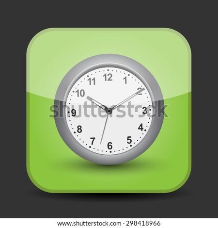 Clock app icon - stock vector