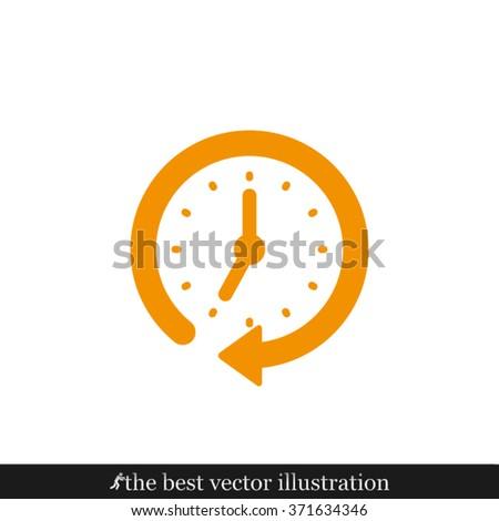 Clock arrow icon vector illustration eps10 - stock vector