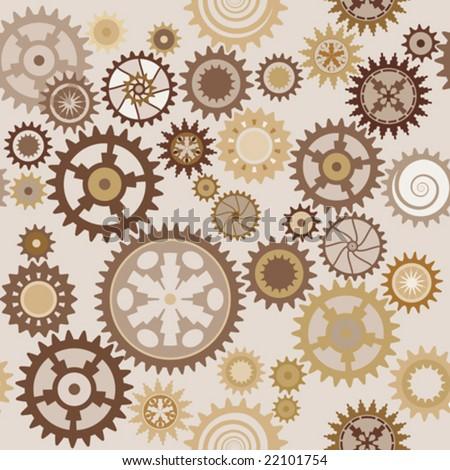 Clock cogwheels pattern 1.2 - stock vector