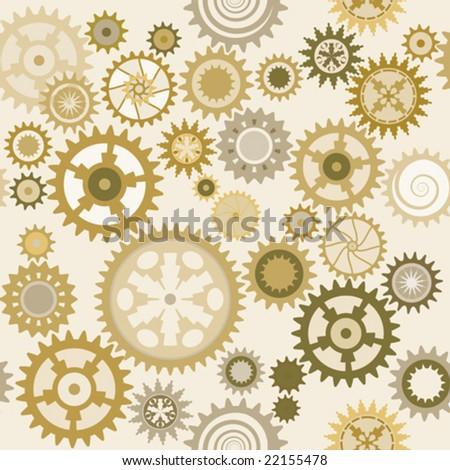 Clock cogwheels pattern 1.3 - stock vector