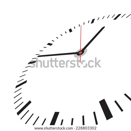 clock face - stock vector