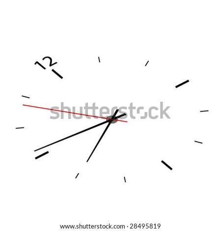 Clock face - stock vector