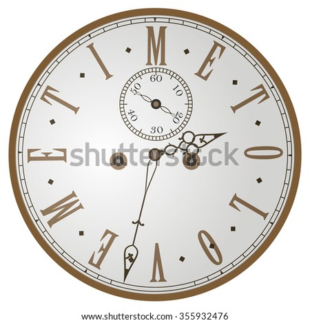 Clock for Valentines day - vector illustration - stock vector