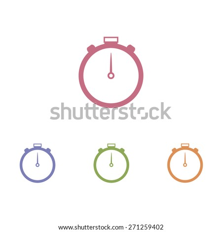 clock icon on white background - stock vector