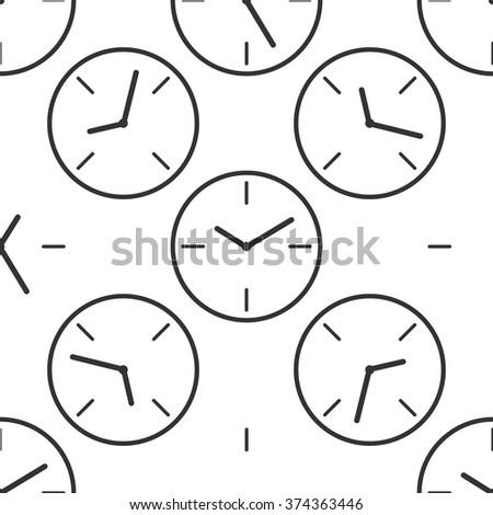Clock icon pattern / Clock pattern / Clock pattern Image / Clock pattern Art / Clock seamless pattern / Clock pattern EPS - stock vector