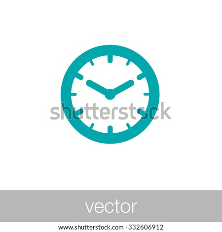 Clock icon. Time icon. Concept flat style design illustration icon. - stock vector