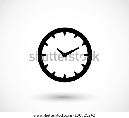 Clock icon vector - stock vector