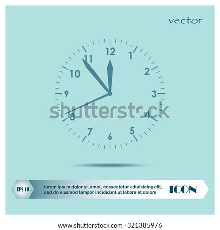 Clock icon , vector - stock vector