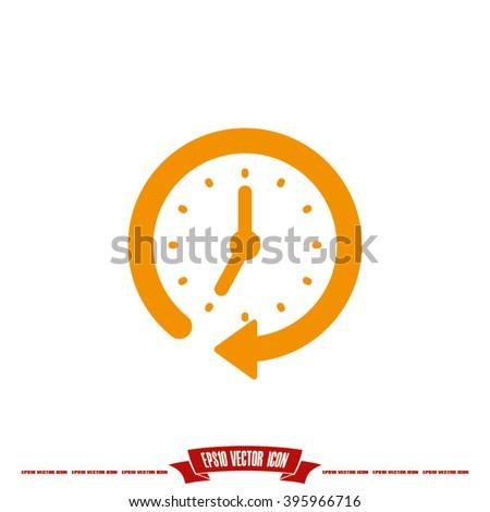 Clock Icon Vector. - stock vector