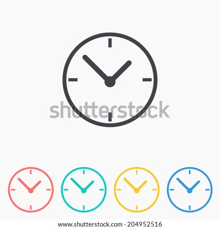 Clock icon , Vector illustration  - stock vector
