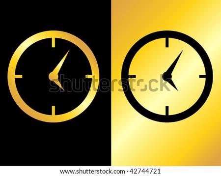 clock icon.vector illustration - stock vector