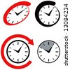 Clock icons - stock vector