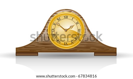 Clock isolated on white background - stock vector