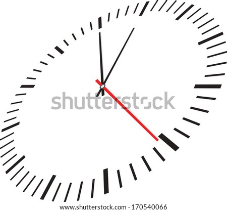 Clock isolated on white background. Vector illustration - stock vector