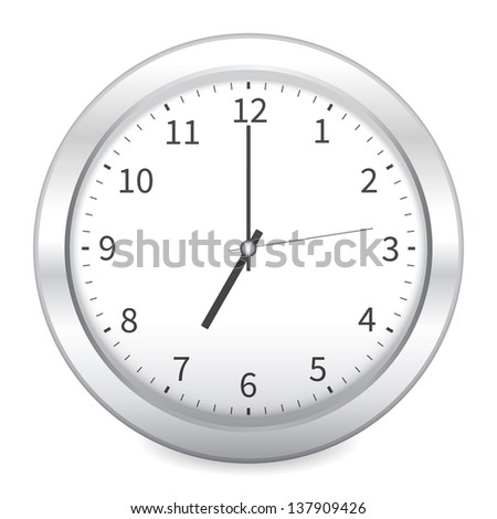 Clock on white background - stock vector