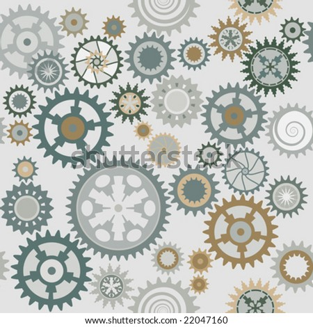Clock's cog-wheels pattern