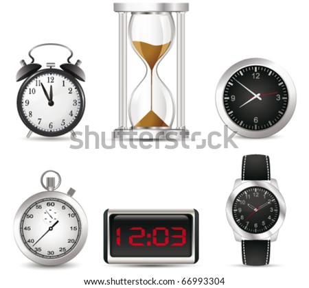 Clock set. Vector - stock vector