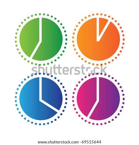 clock showing the time of the day - stock vector