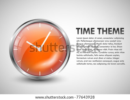 Clock theme - stock vector