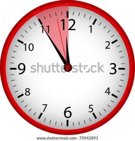 "Clock ""5 to 12"" - stock vector"