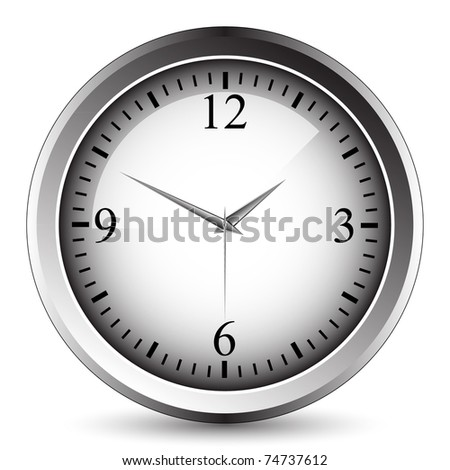 Clock - vector. Easy to edit. - stock vector