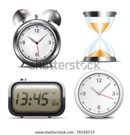 Clock vector icons - stock vector