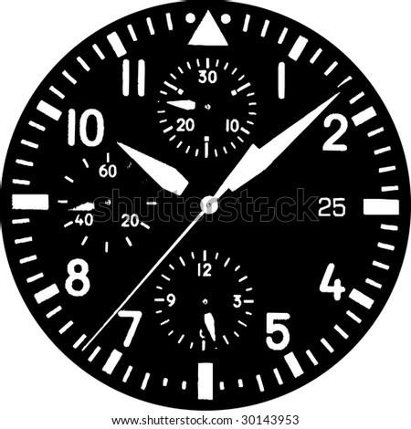 Clock Watch Vector 01 - stock vector