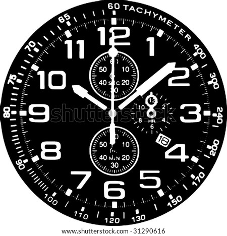 Clock Watch Vector 02 - stock vector