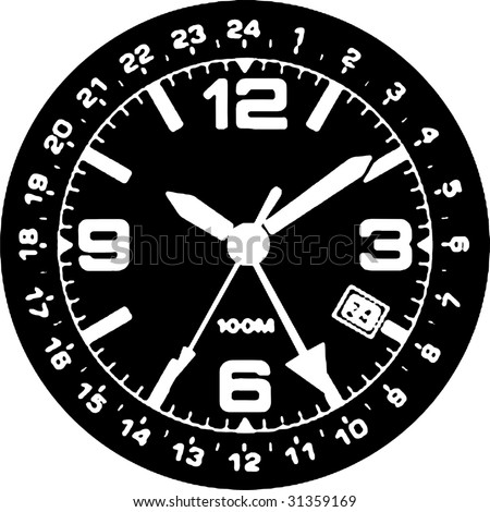 Clock Watch Vector 03 - stock vector