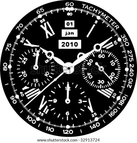 Clock Watch Vector 08 - stock vector